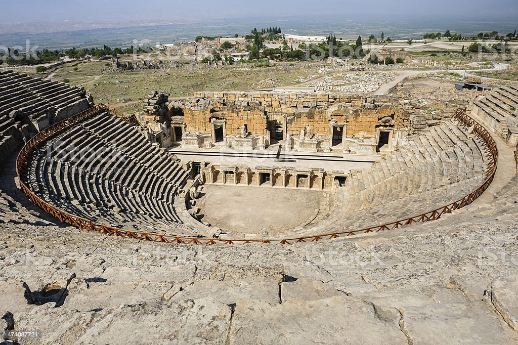 Ancient theater in Hierapolis royalty-free stock photo