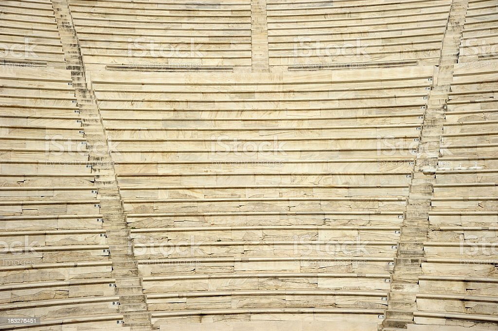 Ancient Theater Seats royalty-free stock photo