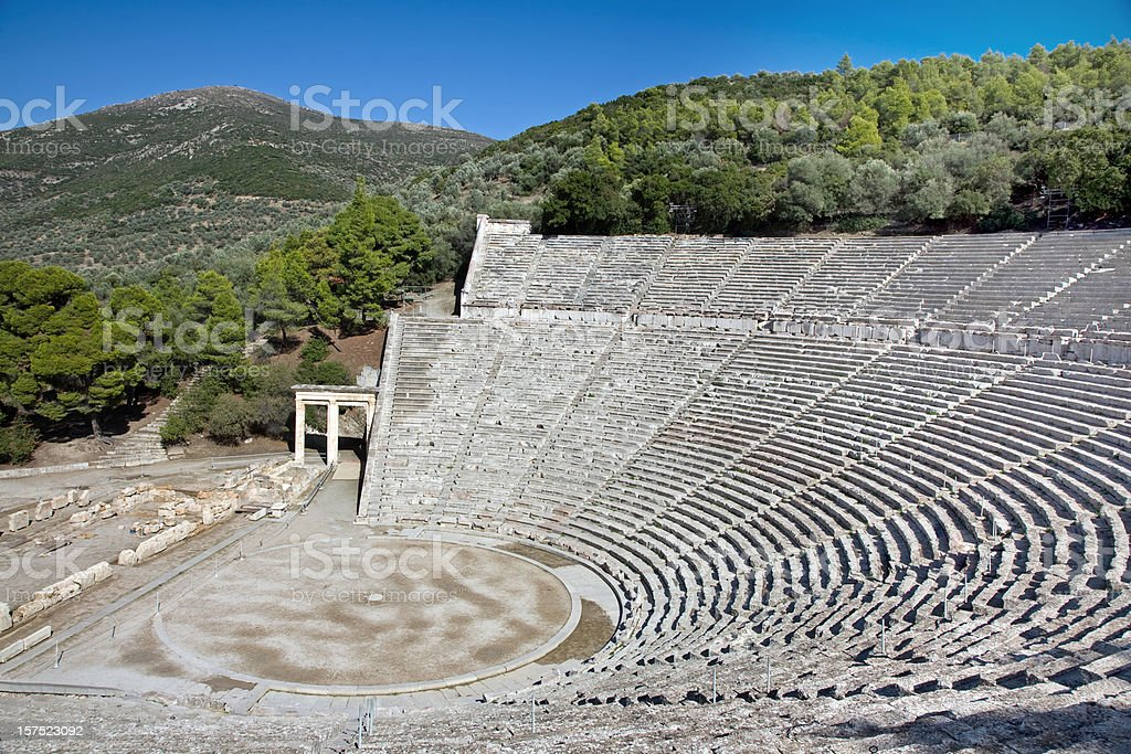 Ancient theatre of Epidavros royalty-free stock photo