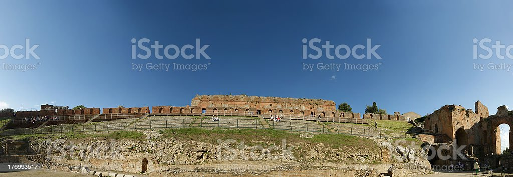 Ancient theatre of Taormina royalty-free stock photo