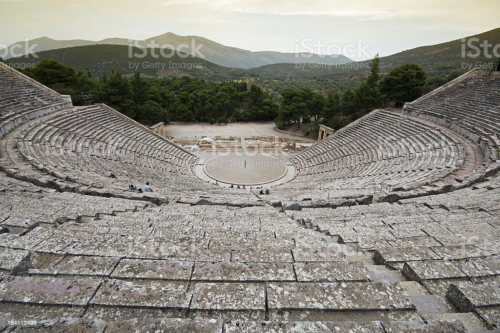 Ancient theatre royalty-free stock photo