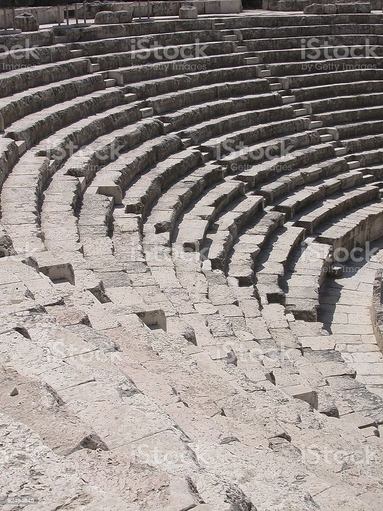 Ancient Theatre Seats royalty-free stock photo
