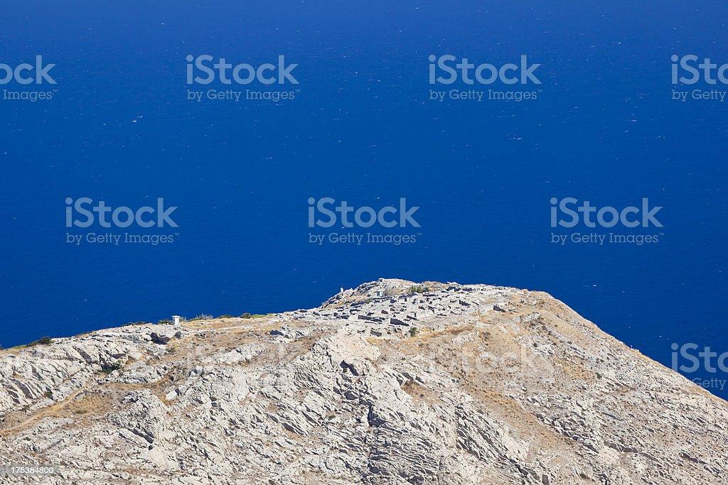 Ancient Thira, Santorini stock photo