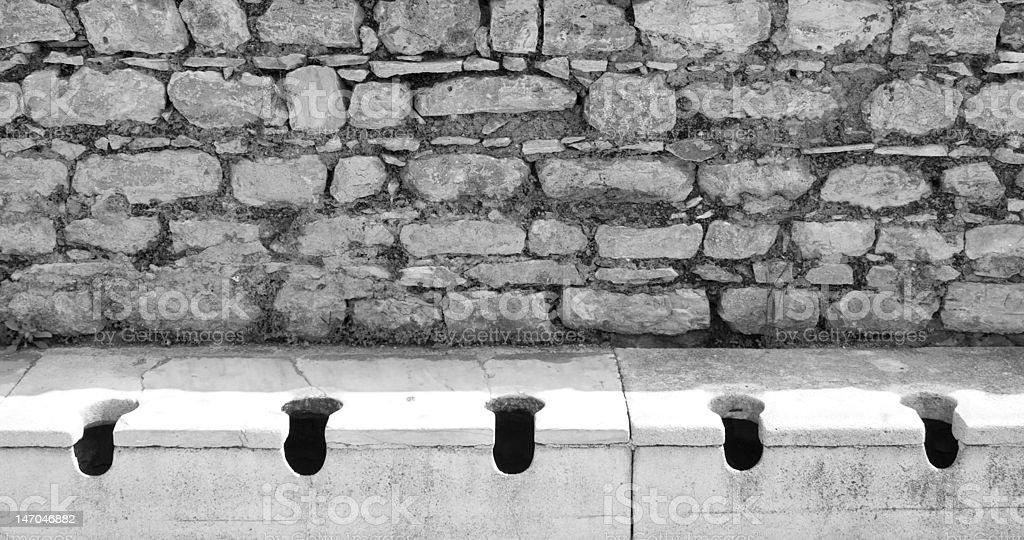 Ancient Toilets stock photo