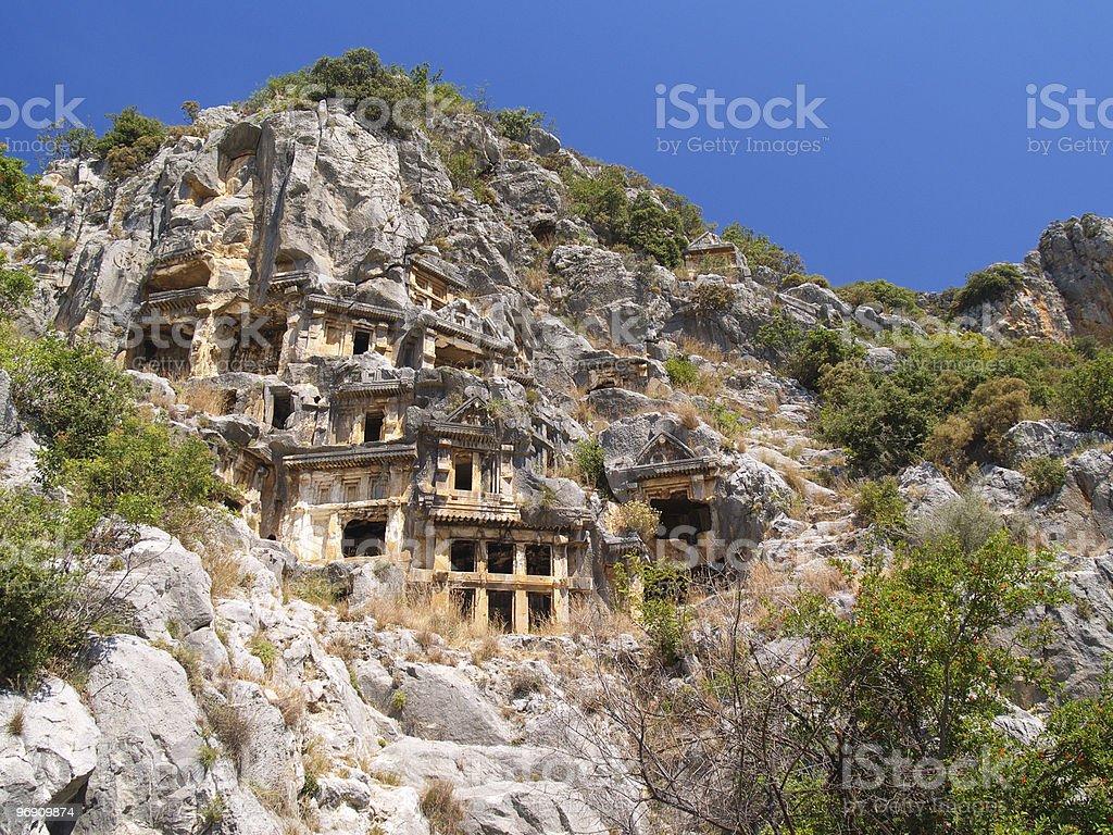 Ancient tombs, part three royalty-free stock photo