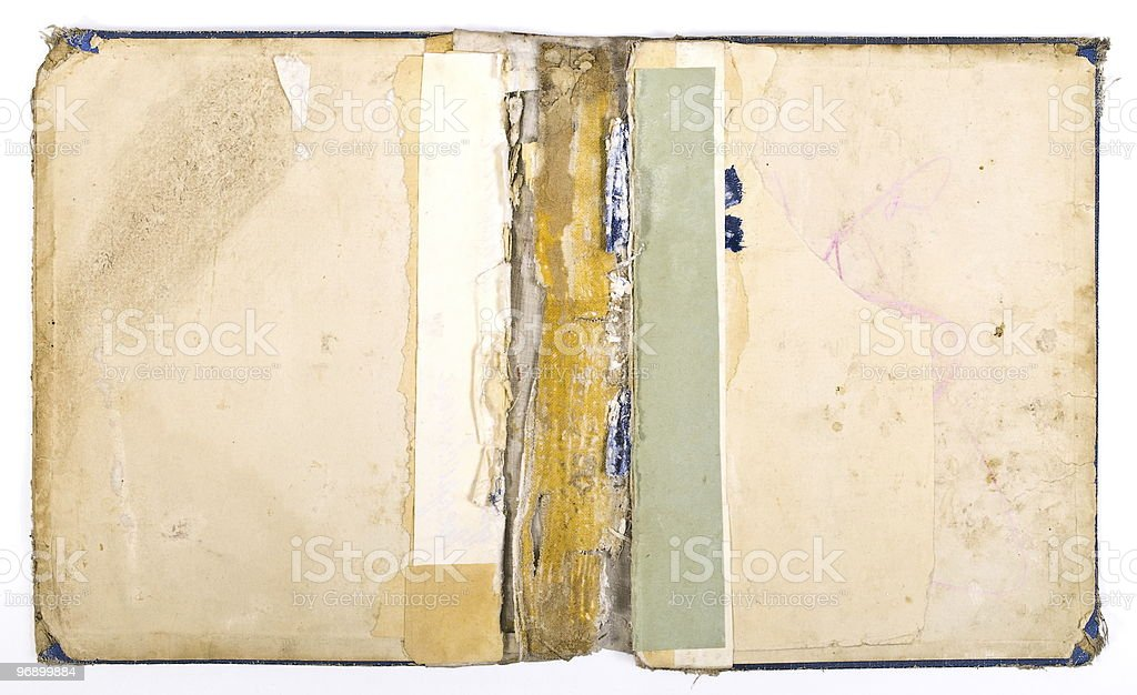 Ancient torn book royalty-free stock photo