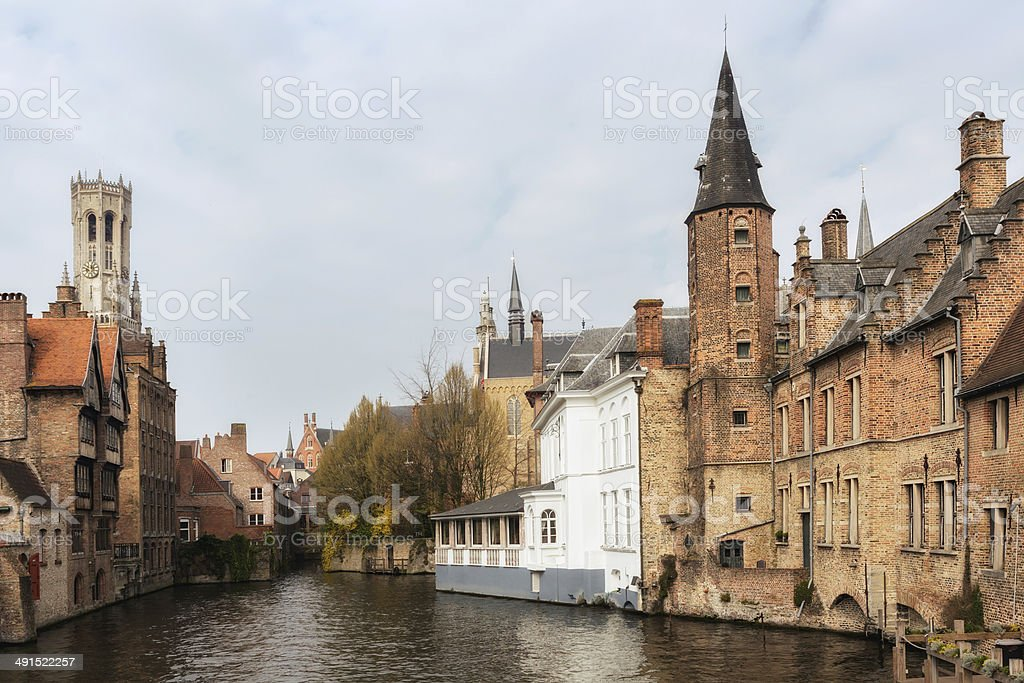 Ancient town of Bruges stock photo