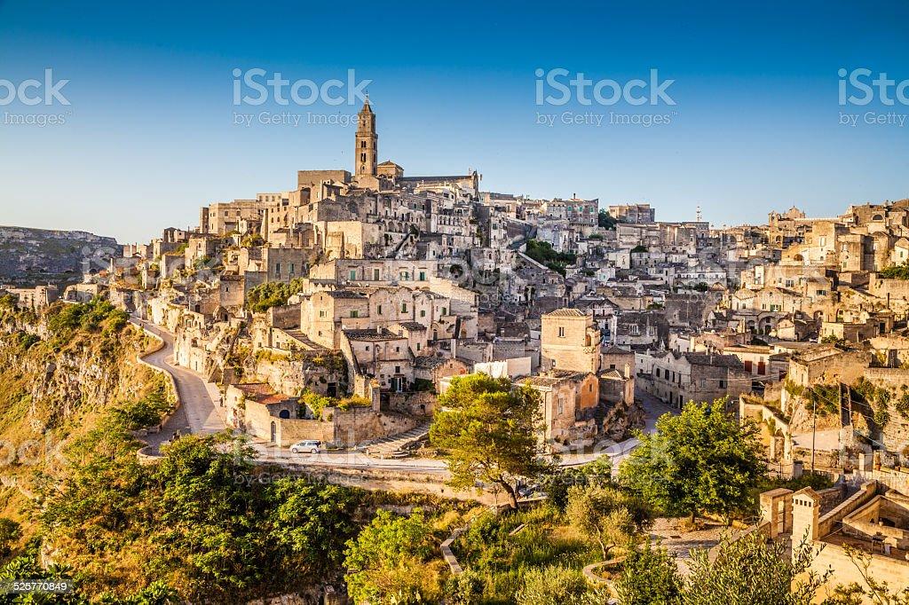 Historische Stadt Matera in sunrise, Basilicata, Italien – Foto