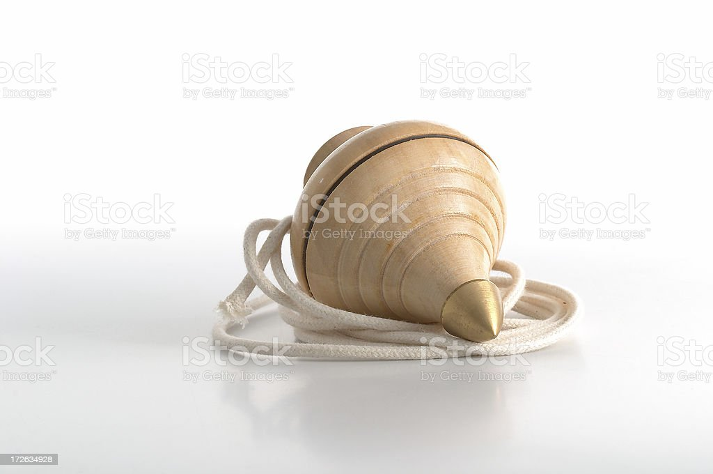 Ancient Toy, Spinning top and string royalty-free stock photo