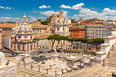 istock Ancient Trajan Forum in Rome, Italy 860587752