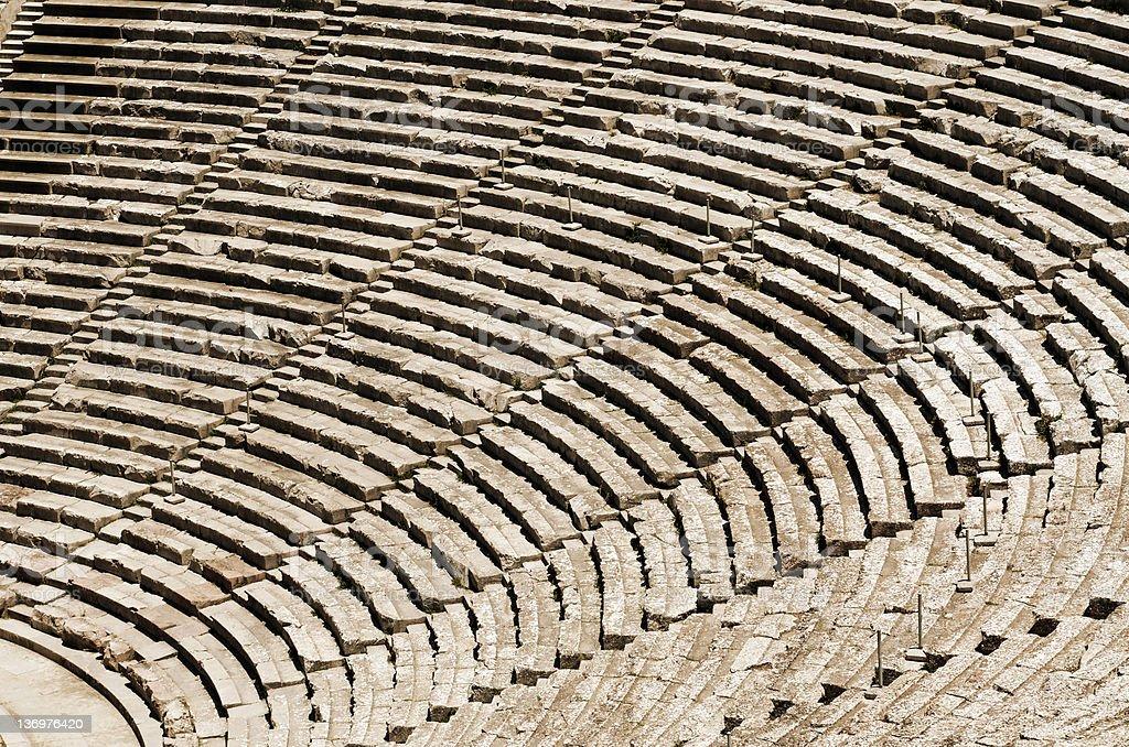 Ancient tribunes stock photo