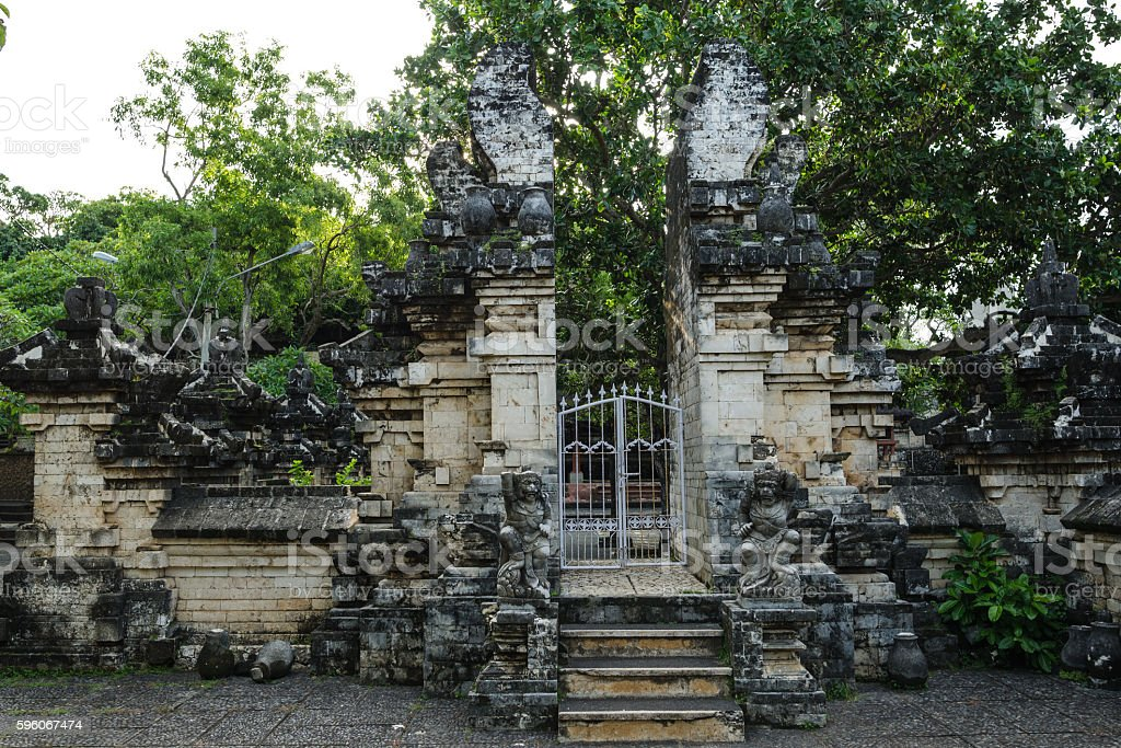 Ancient Uluwatu Temple Section Entrance royalty-free stock photo