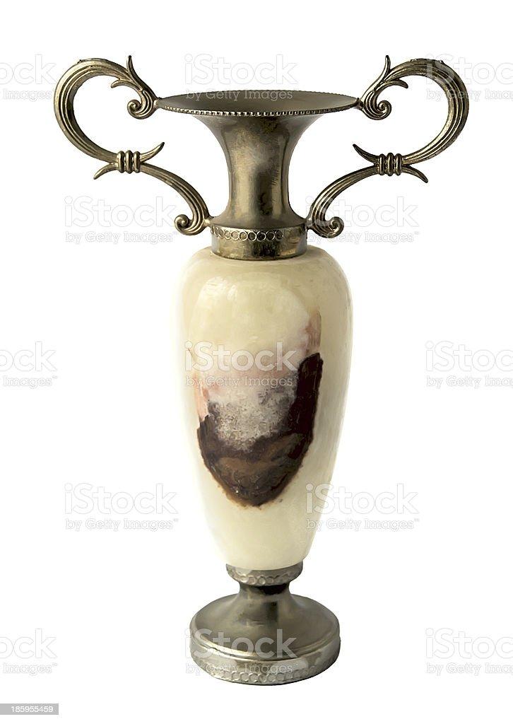 ancient vaze isolated on white background stock photo