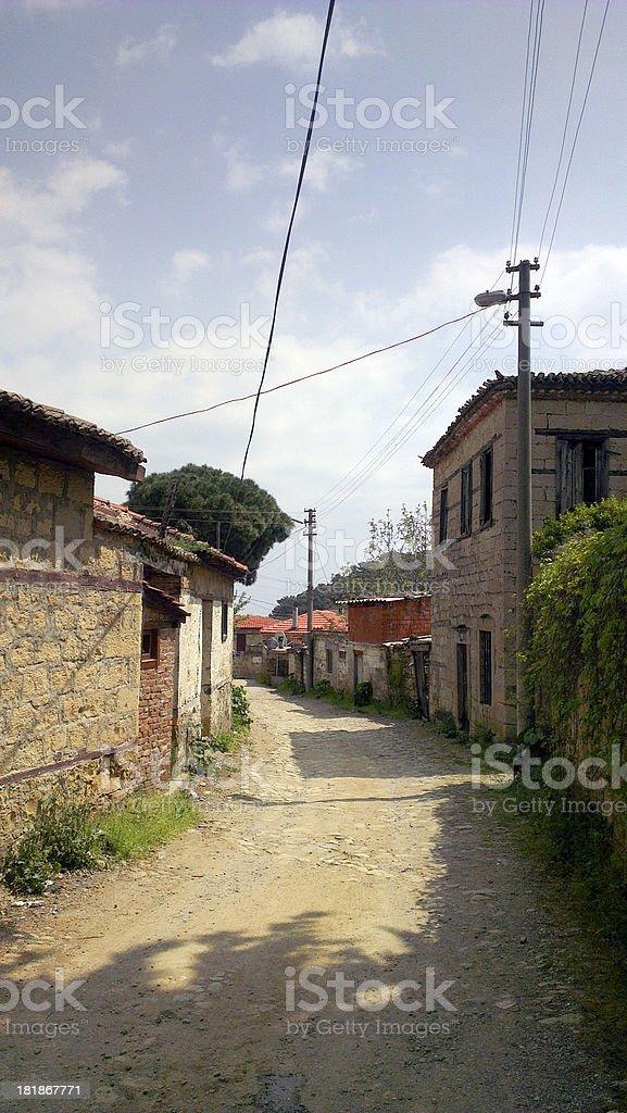 Ancient Village in Güre, Aydın, Turkey royalty-free stock photo