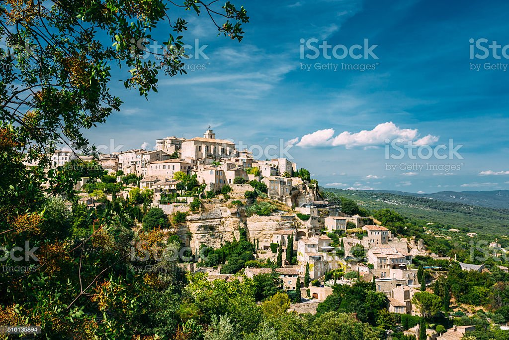 Ancient village of Gordes in Provence, France stock photo