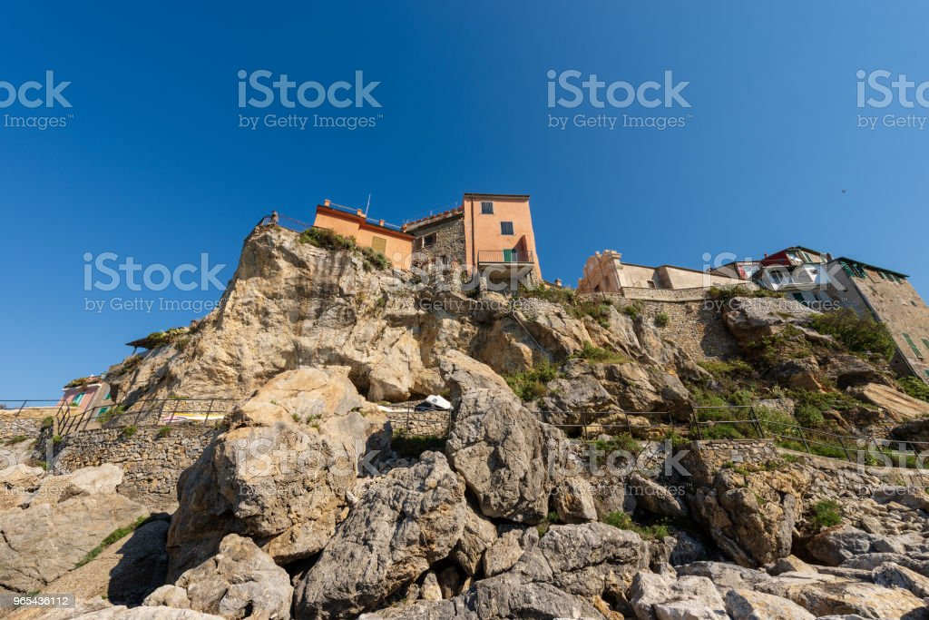 Ancient Village of Tellaro in Liguria Italy zbiór zdjęć royalty-free