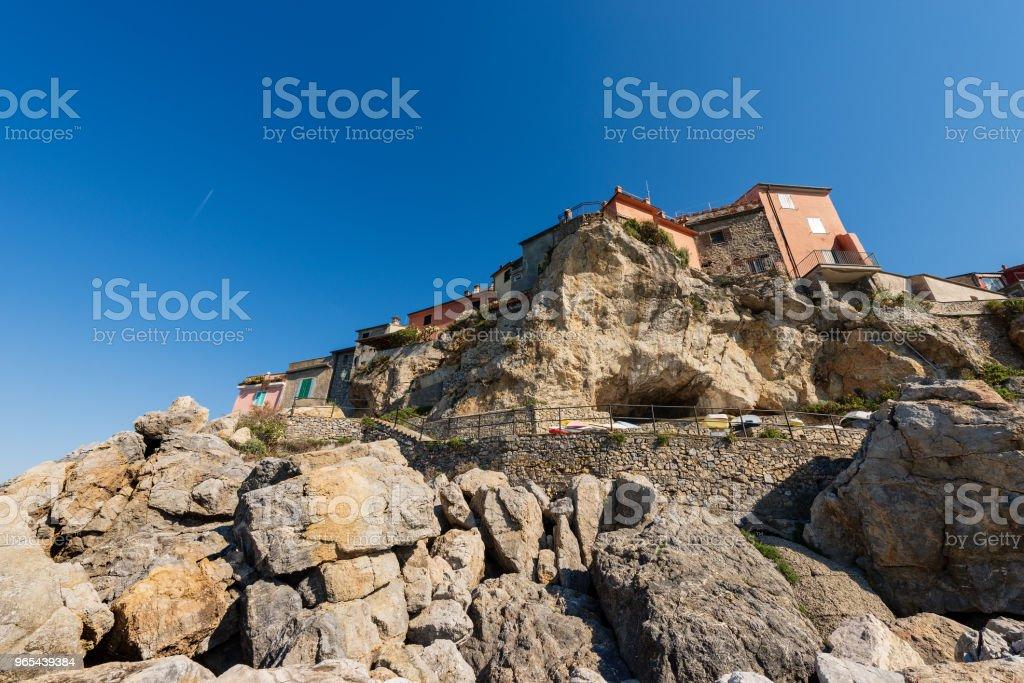 Ancient Village of Tellaro in Liguria Italy zbiór zdjęć royalty-free