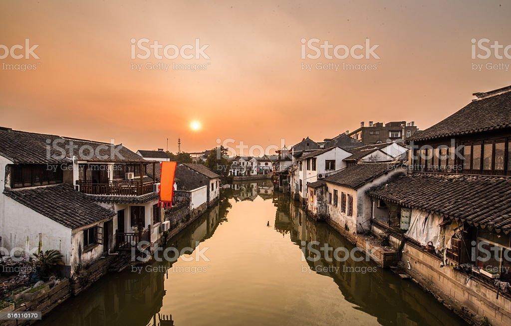 Ancient Villages, old-town of tongli -Suzhou, Jiangsu, China stock photo