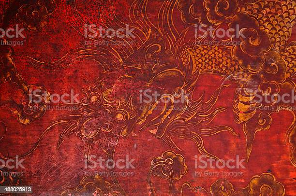 Ancient vintage golden painting of dragon on red wooden wall picture id488025913?b=1&k=6&m=488025913&s=612x612&h=u5ip54j0 wcoelaxxohrskeon2yrteppjoc4 rxly m=