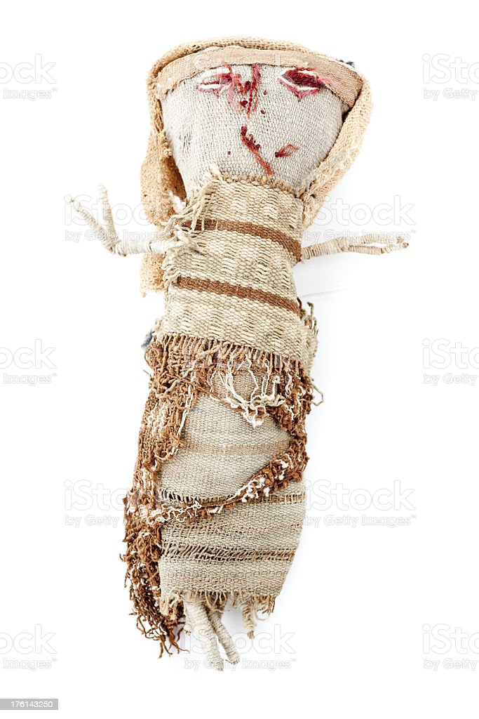 Ancient voodoo doll royalty-free stock photo