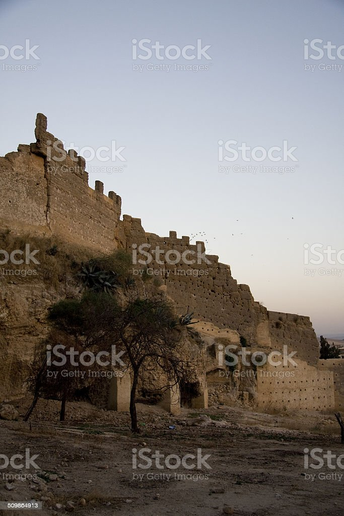 Ancient walls of Fes, Morocco stock photo