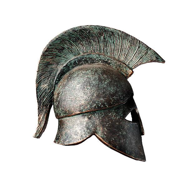 Ancient War Helmet stock photo