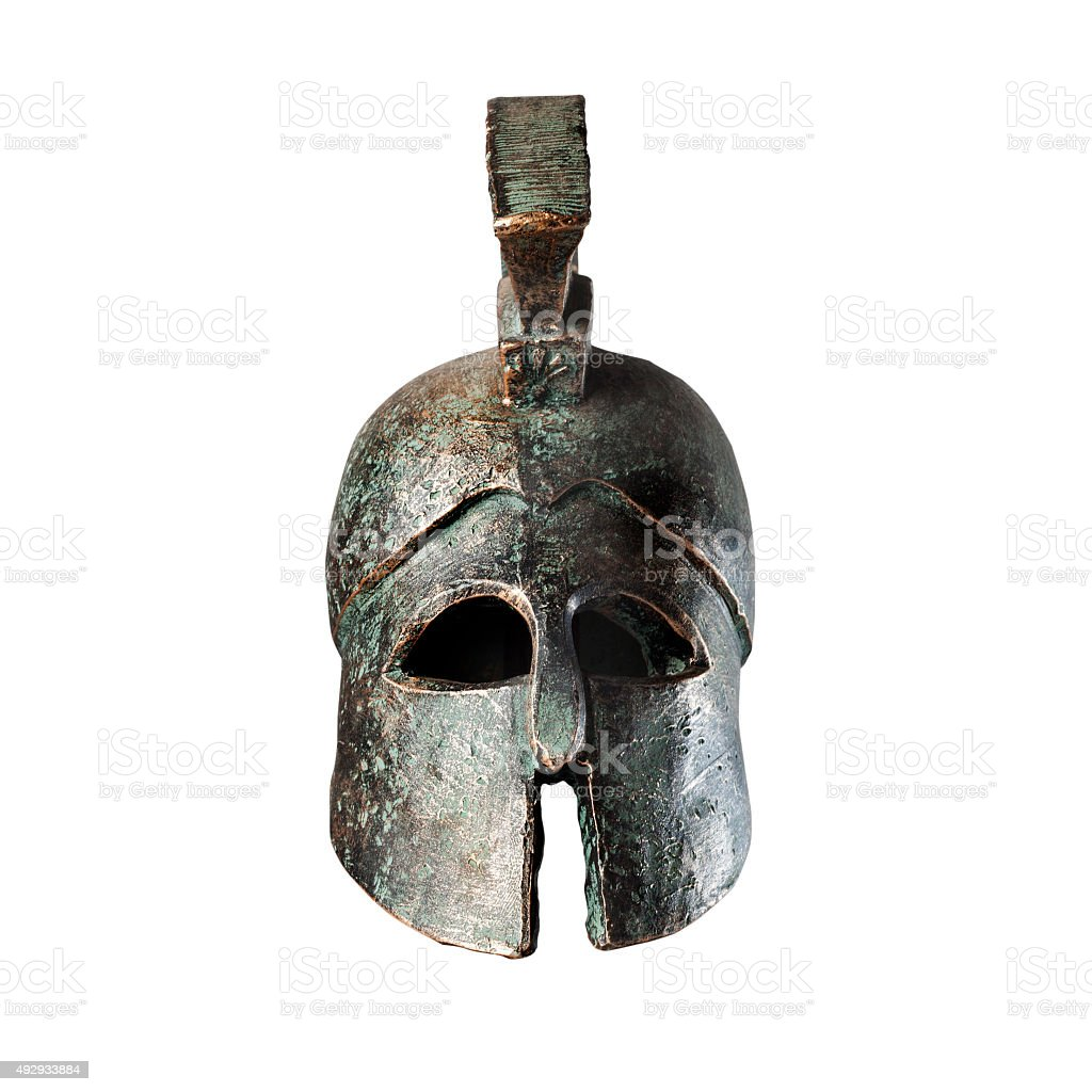 Ancient War Helmet stock photo