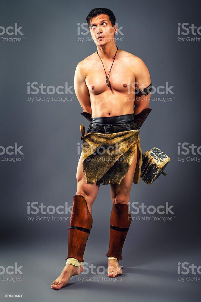 Ancient warrior. stock photo