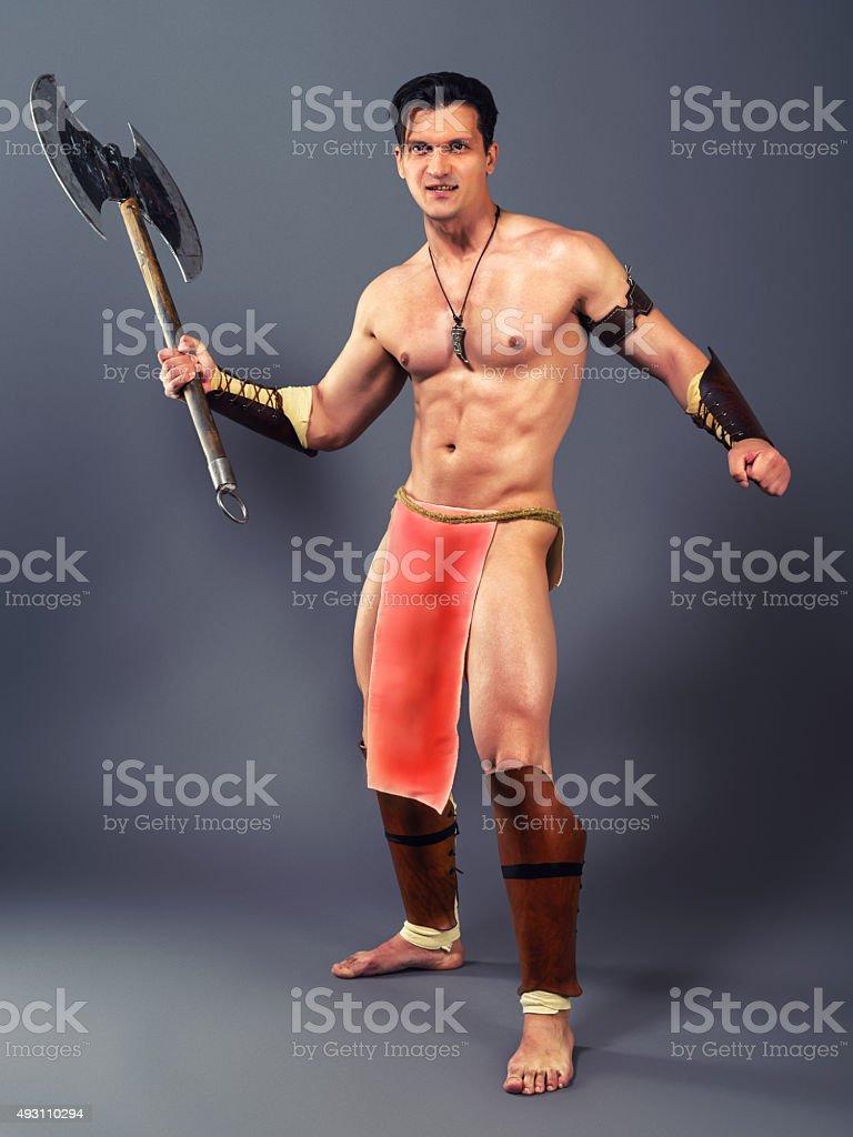 Ancient warrior stock photo