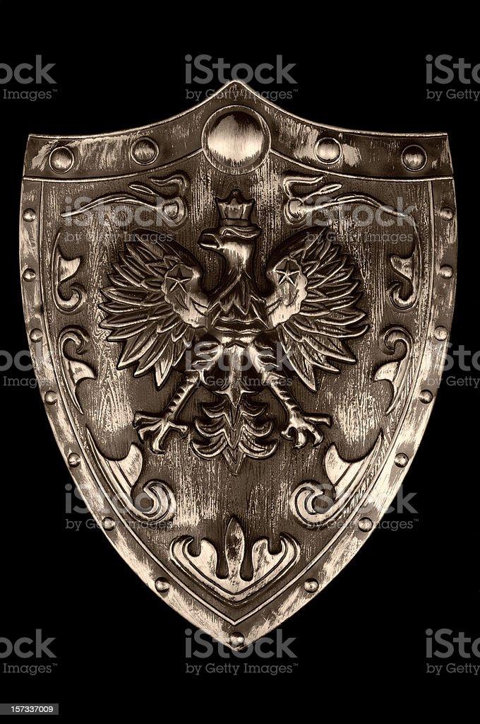 Ancient warrior shield stock photo