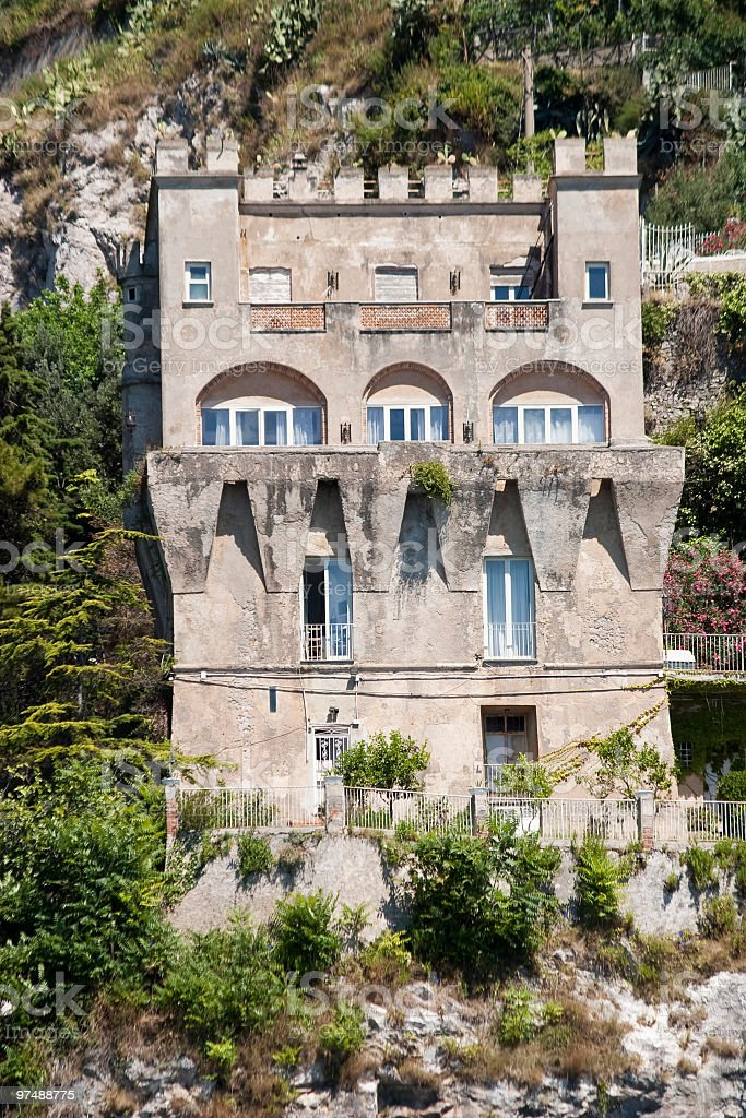 Ancient Watchtower on the Amalfi Coast (Italy) royalty-free stock photo