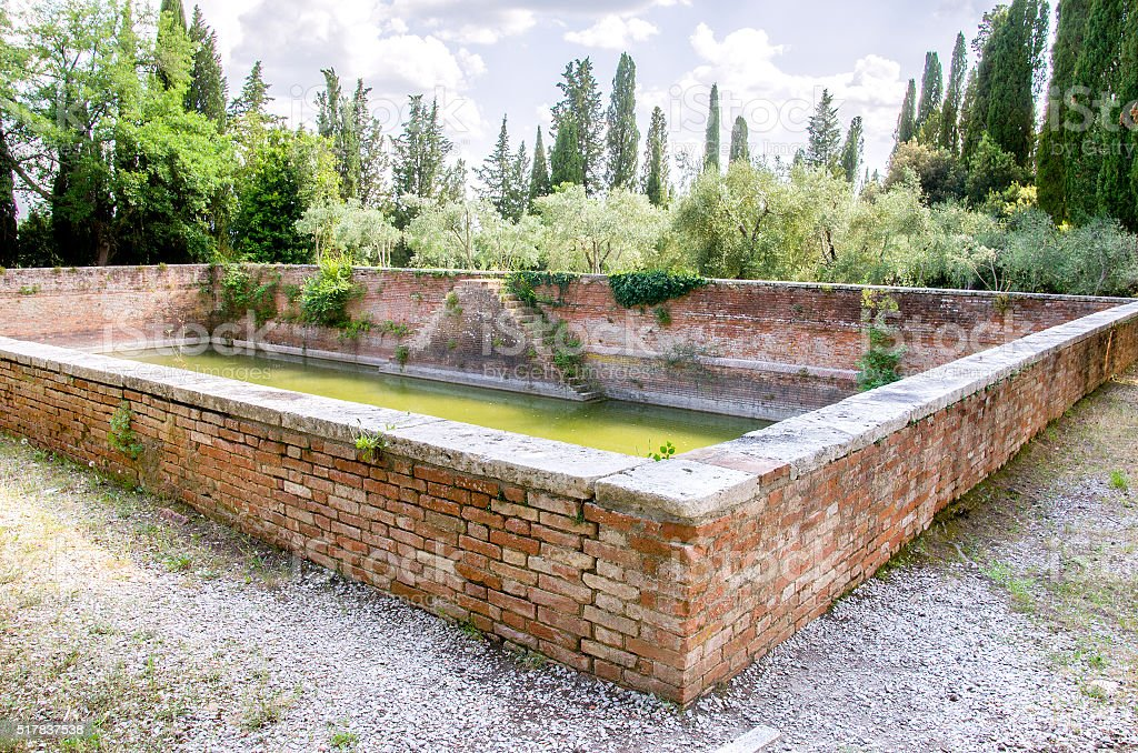 ancient water stock rainwater collection basin stock photo