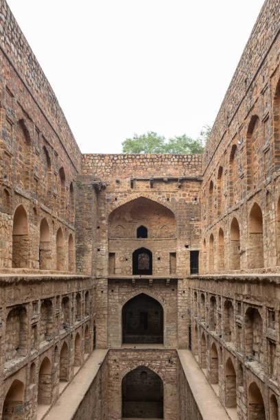 alten Wasser Tank Agrasen Ki Baoli, mit den Bögen sichtbar, New Delhi, Indien – Foto