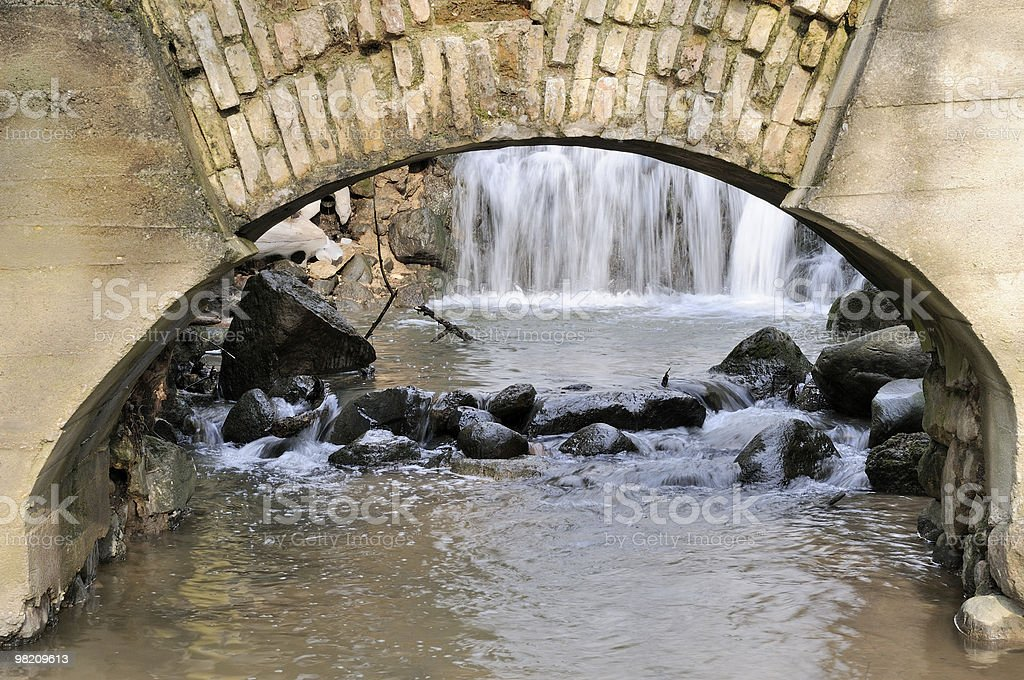 Ancient water-mill in spring royalty-free stock photo