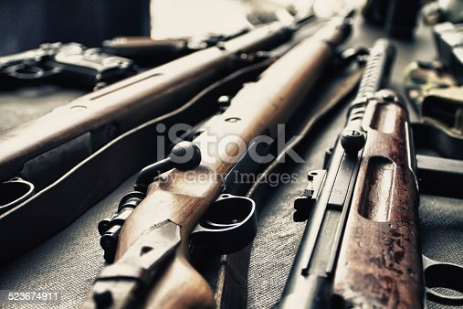 istock Ancient weapons of war. 523674911