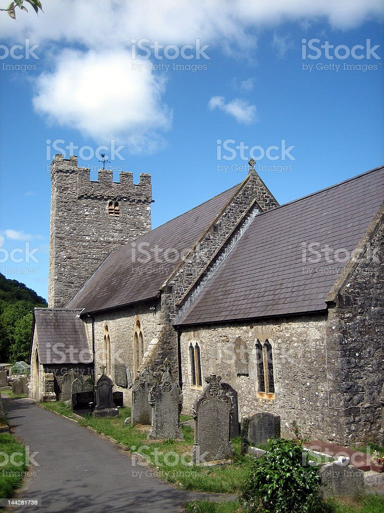 Ancient Welsh Church royalty-free stock photo