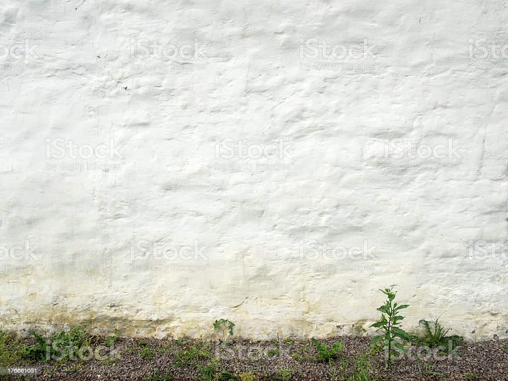 ancient white wall royalty-free stock photo