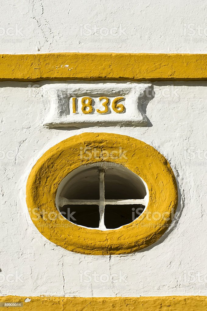 Ancient  window royalty-free stock photo