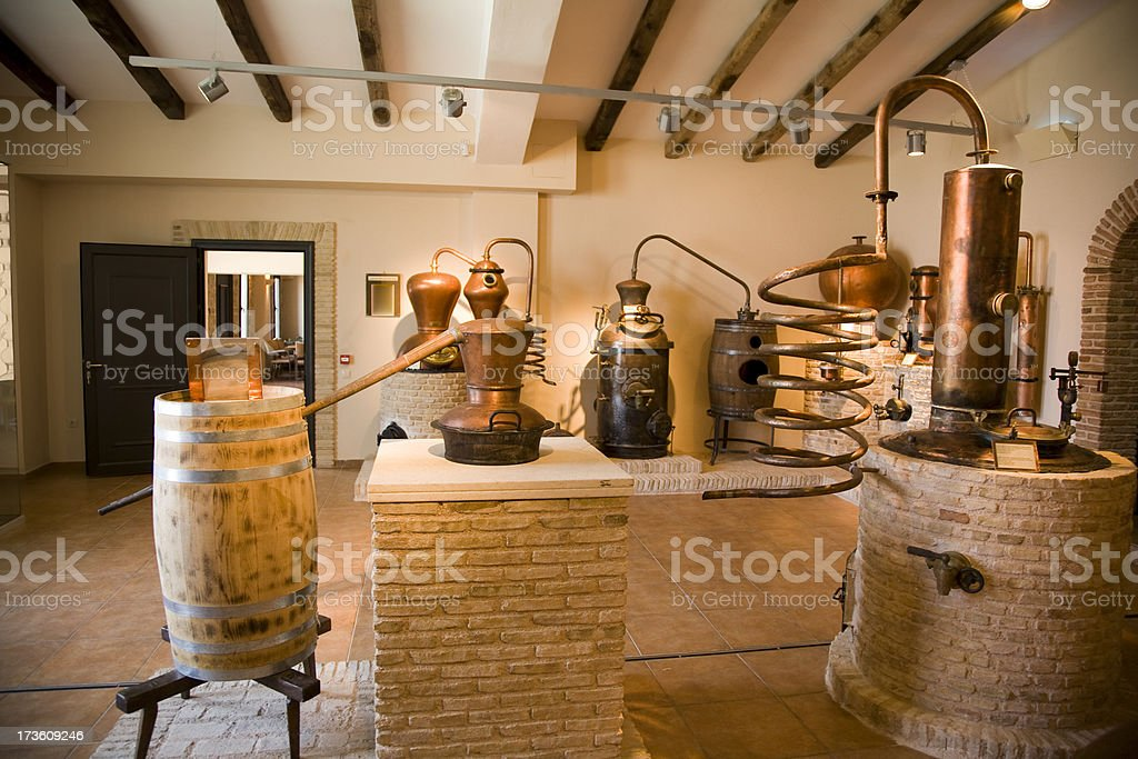 Ancient wine distillery stock photo
