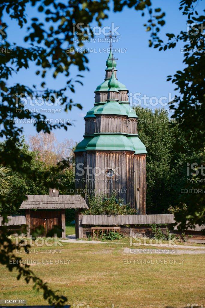 Ancient wooden church of St. Paraskeva stock photo
