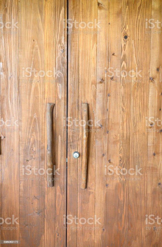 Ancient wooden door royalty-free stock photo