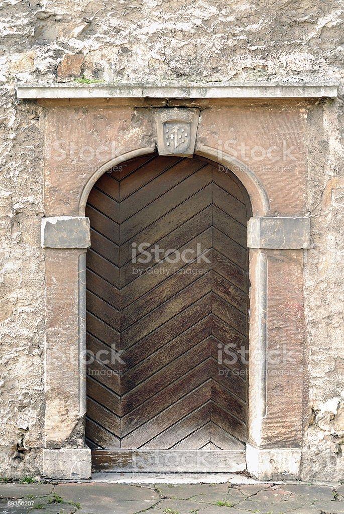 Zabytkowe drewniane drzwi zbiór zdjęć royalty-free