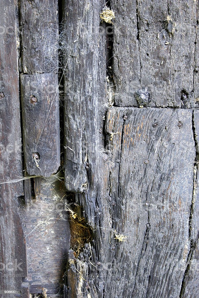 Ancient Wooden panel royalty-free stock photo
