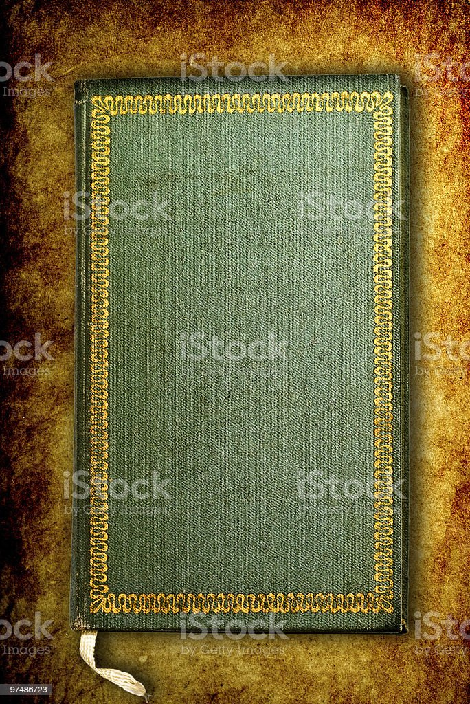 Ancient worn book royalty-free stock photo
