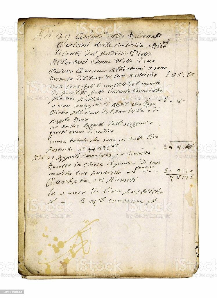 Antiguo fondo de papel para escribir a o 1823 fotograf a - Papel pared antiguo ...