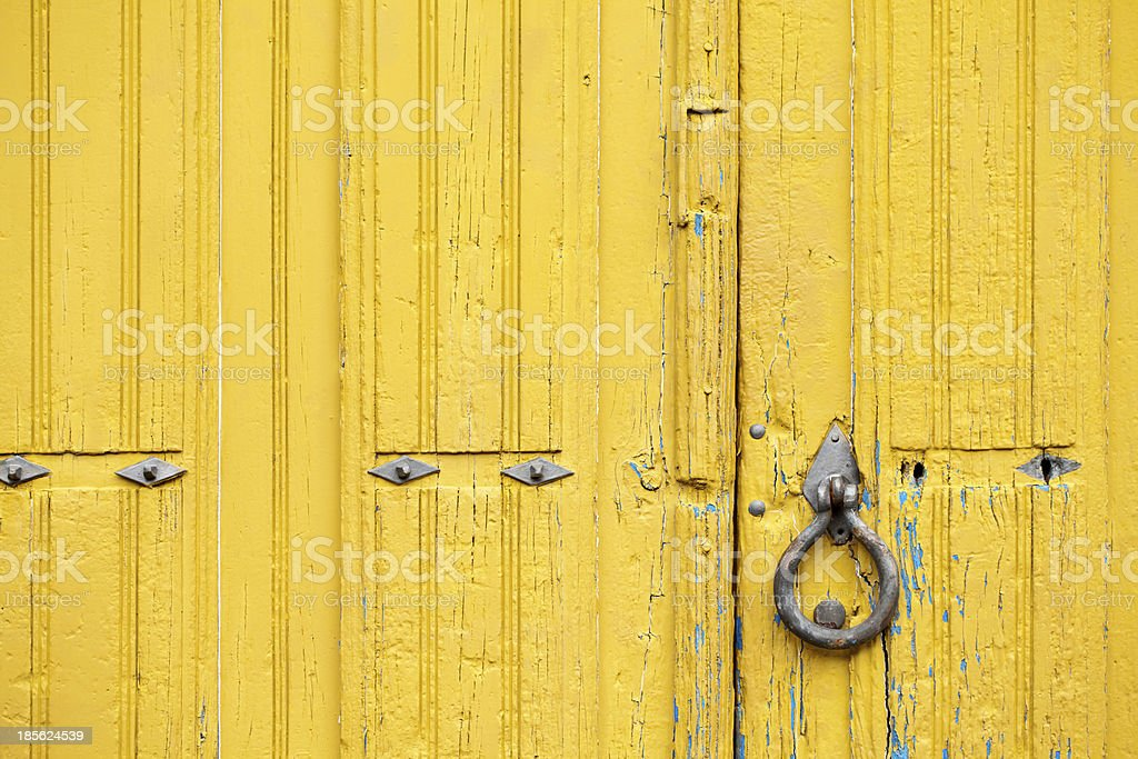 Ancient yellow door royalty-free stock photo