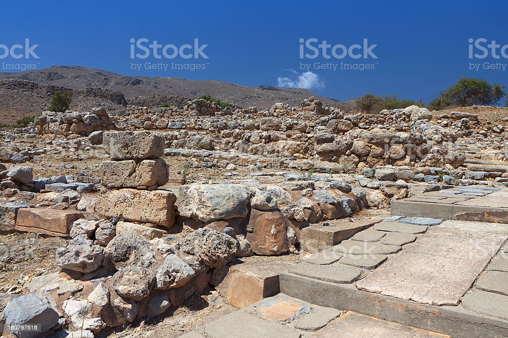 Ancient Zakros at Crete island in Greece royalty-free stock photo