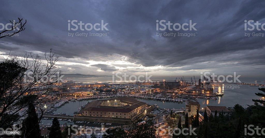 Ancona: Lazzaretto at sunset stock photo