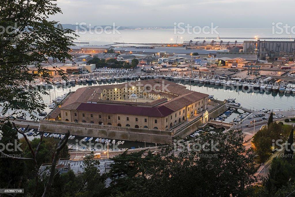 Ancona: Lazzaretto stock photo