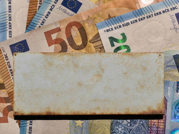 50 and 20 Euro banknotes money (EUR), currency of European Union stock photo